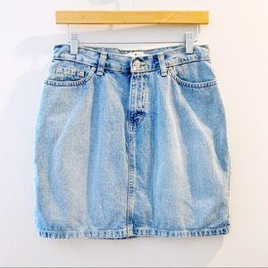 Vintage Tommy Hilfiger Denim Mini Skirt Size 4